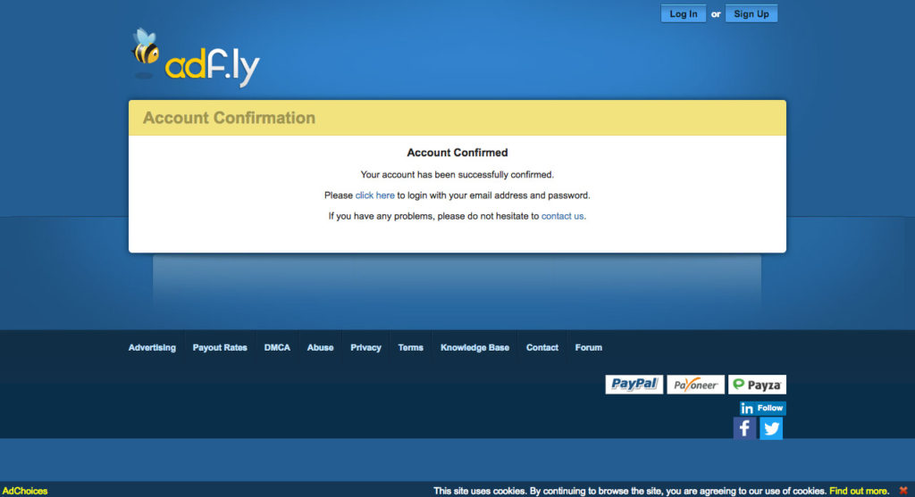 AdFly The URL shortener service that pays you Earn money for every visitor to your links.(4)